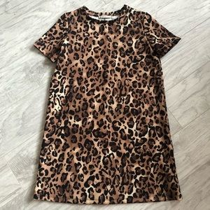 Zara Trafaluc Leopard Print Boxy Dress
